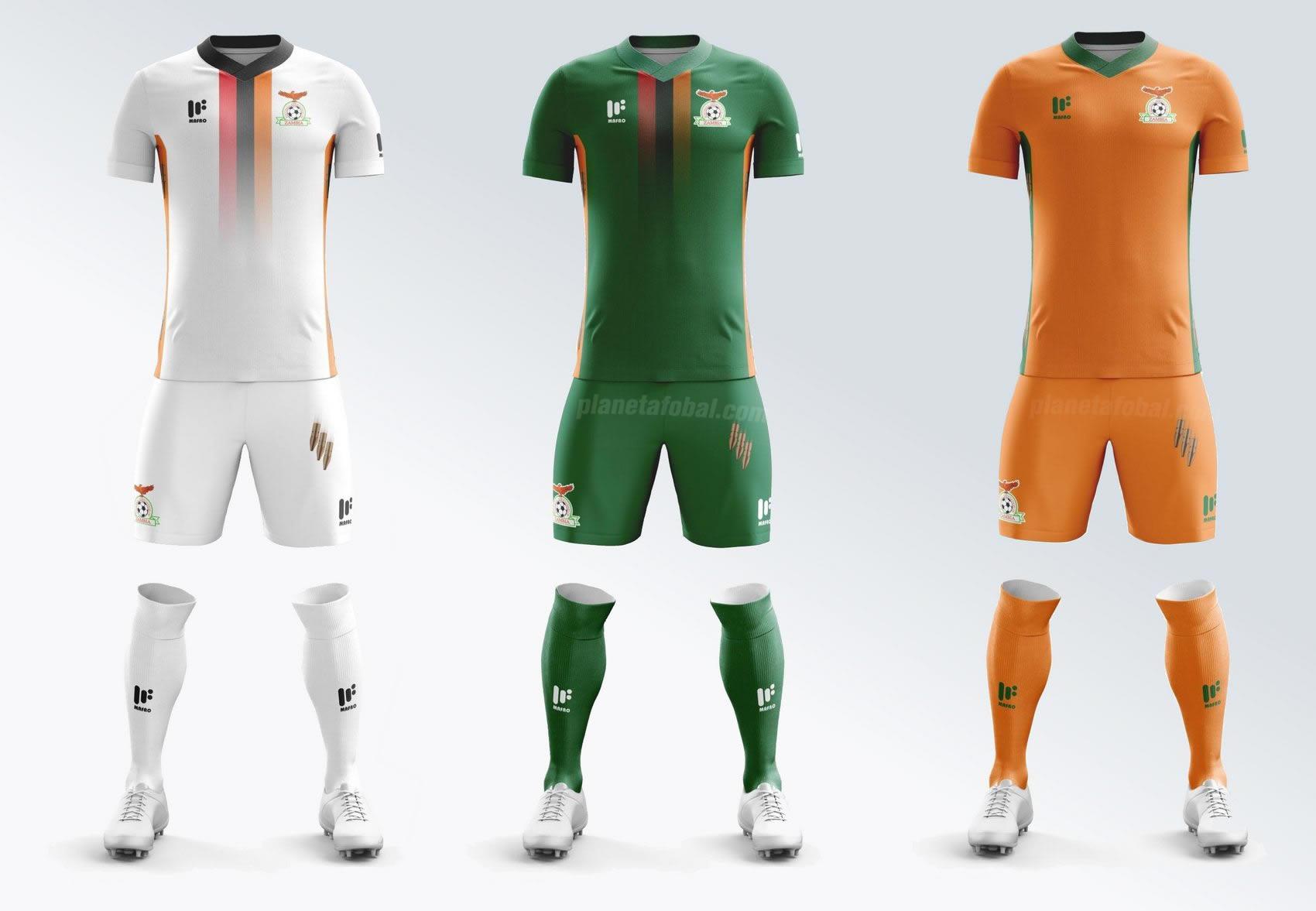 Nuevas camisetas de Zambia | Imágenes Mafro Sports