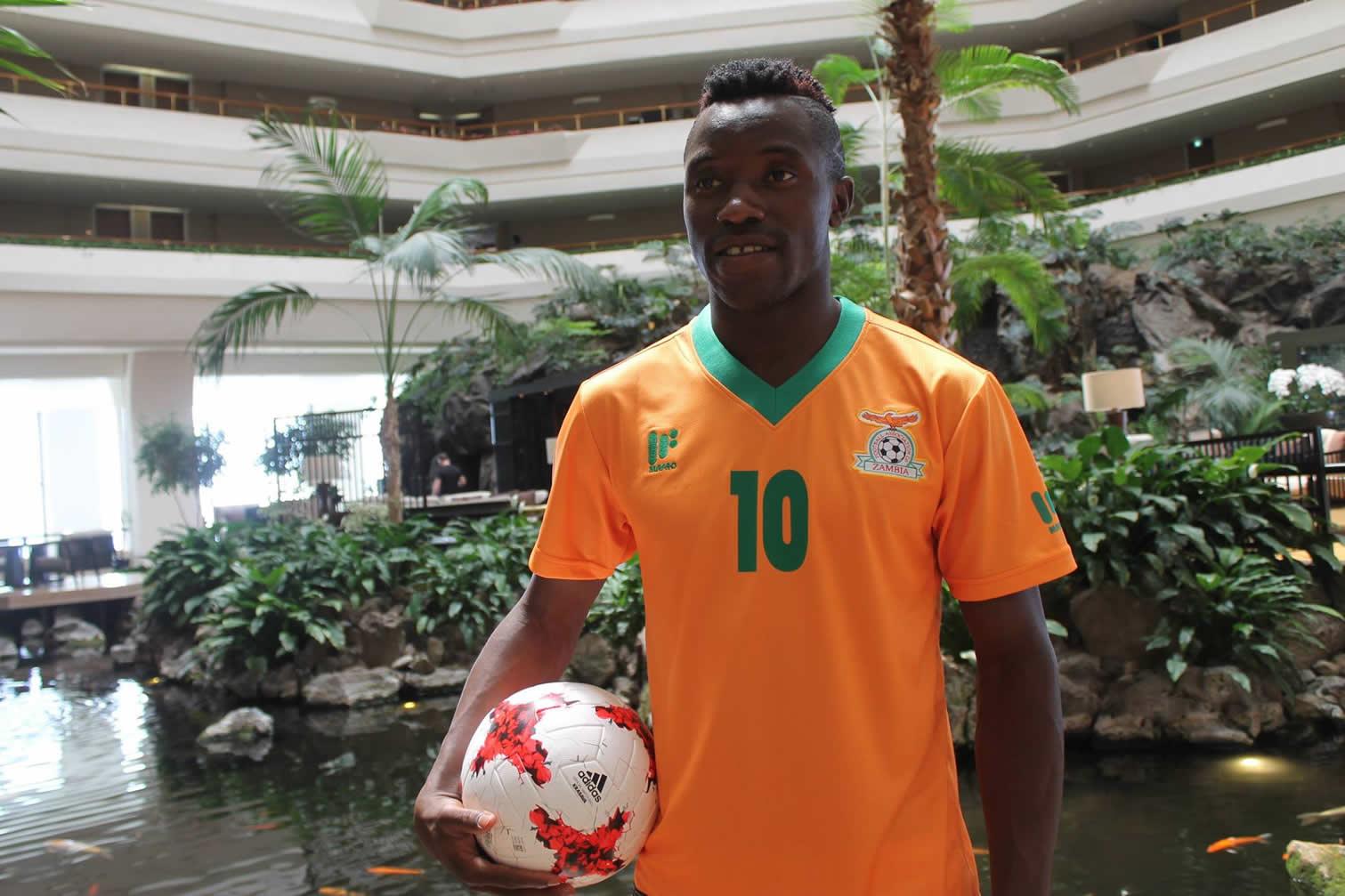 Nueva camisetas suplente de Zambia | Foto FAZ