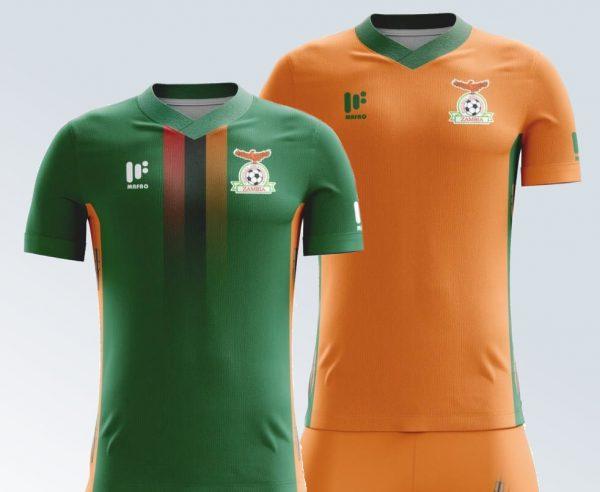 Nuevas camisetas de Zambia   Imágenes Mafro Sports