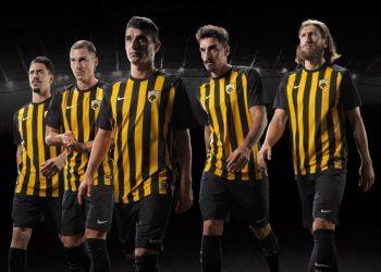 Camiseta titular Nike 2017-18 del AEK | Imagen Web Oficial