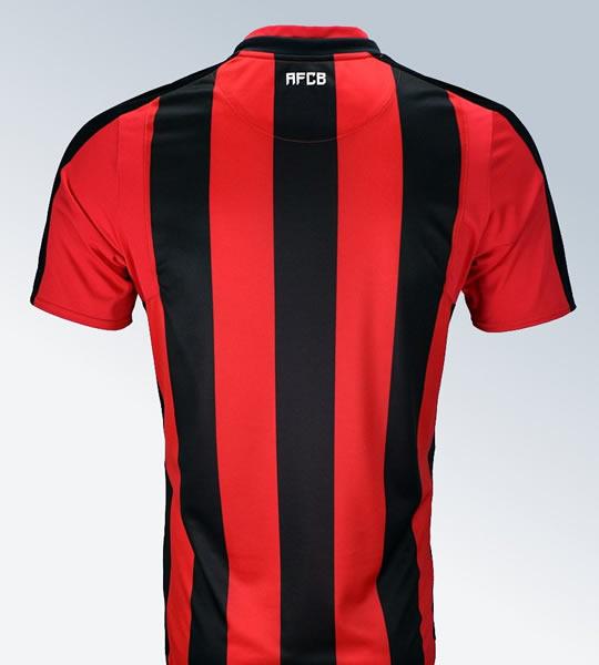 Camiseta titular Umbro 2017-18 del Bournemouth | Foto Web Oficial