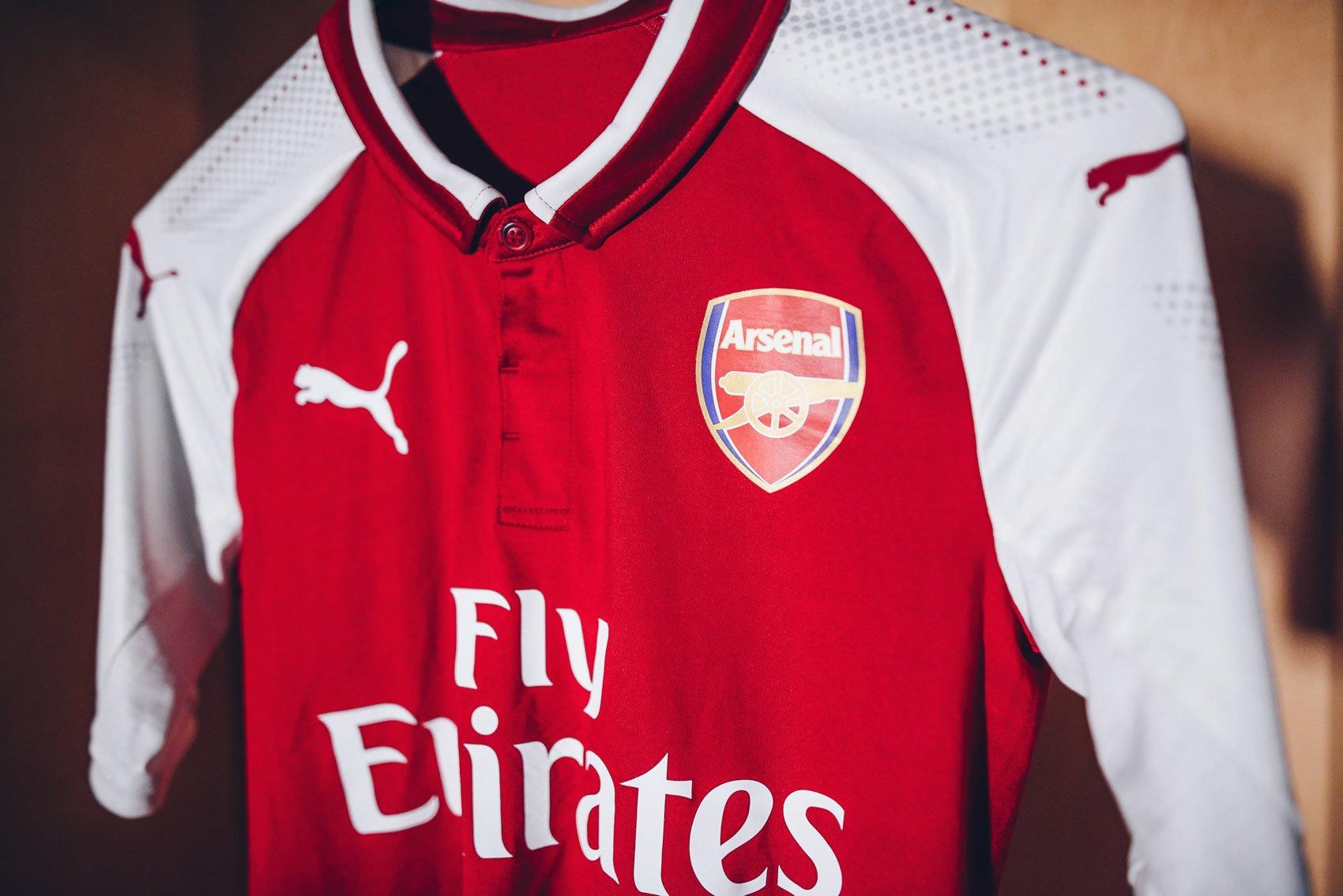 Nueva camiseta titular del Arsenal FC | Foto Puma