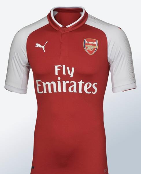 Camiseta titular del Arsenal para 2017/2018 | Foto Tienda Oficial