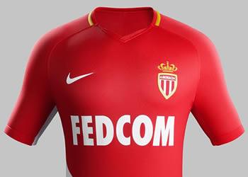 Camiseta titular 2017-18 del AS Monaco   Foto Nike