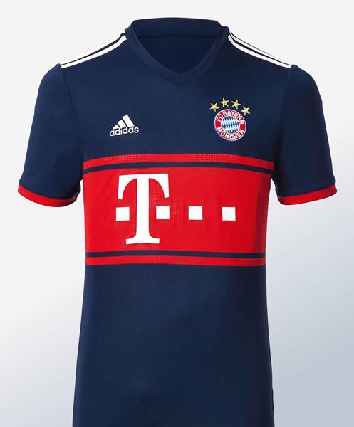 Camiseta suplente Adidas 2017-18 del FC Bayern | Foto Web Oficial