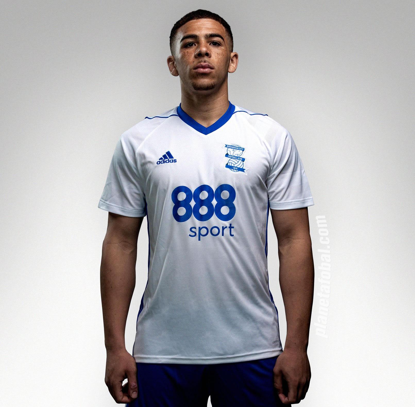 Camiseta suplente Adidas 2017-18 del Birmingham City FC | Foto Web Oficial