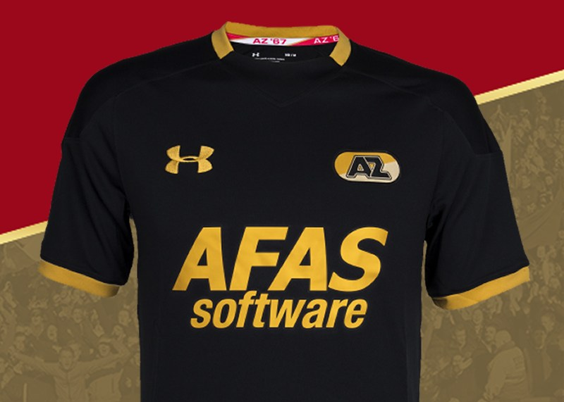Camiseta suplente Under Armour del AZ Alkmaar   Foto Web Oficial