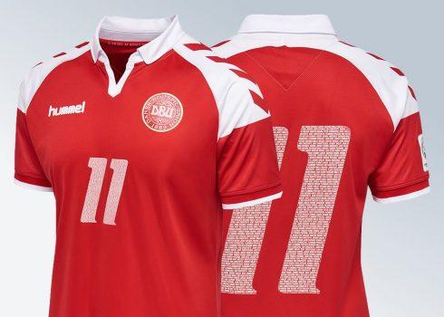 Camiseta conmemorativa de Dinamarca   Imágenes Hummel