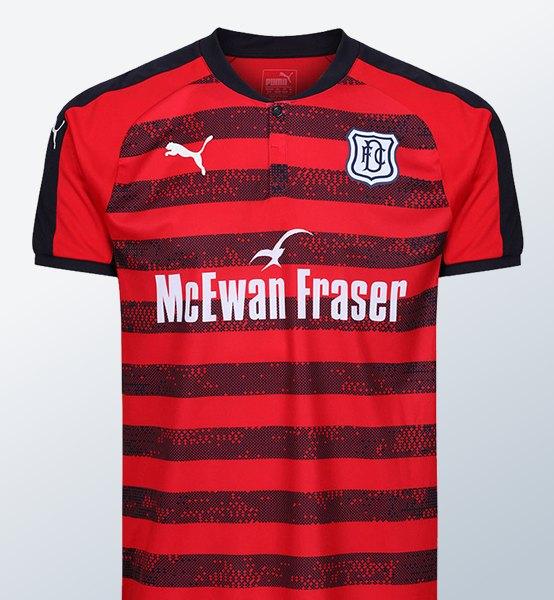 Camiseta suplente del Dundee FC | Foto Web Oficial