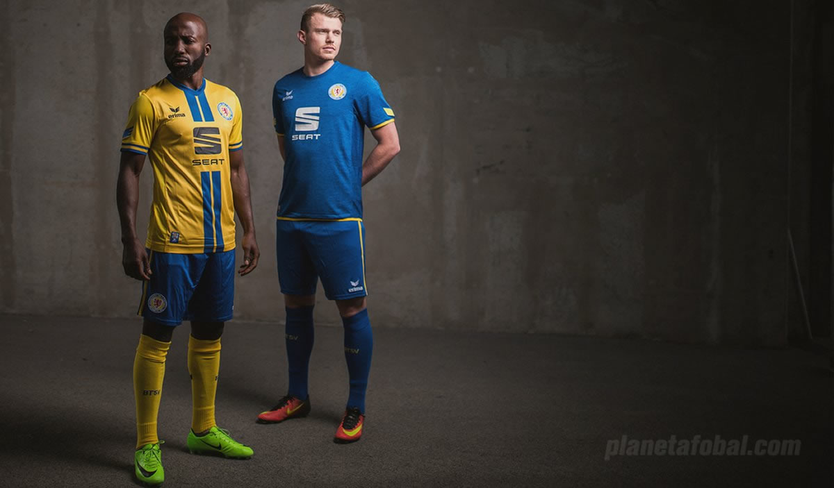 Camisetas Erima del Eintracht Braunschweig | Foto Web Oficial
