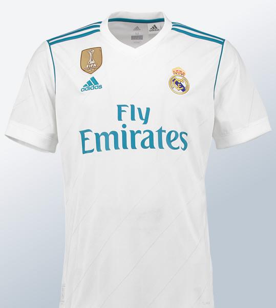 Camiseta titular del Real Madrid para 2017/2018 | Foto Tienda Oficial