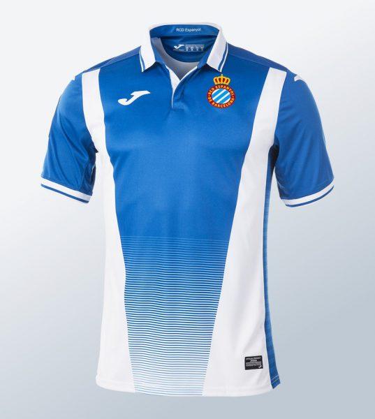 Camiseta titular Joma 2017-18 del Espanyol | Foto Web Oficial