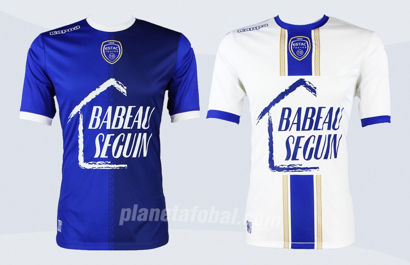 Nuevas camisetas Kappa 2017-18 del ESTAC Troyes | Imágenes Web Oficial