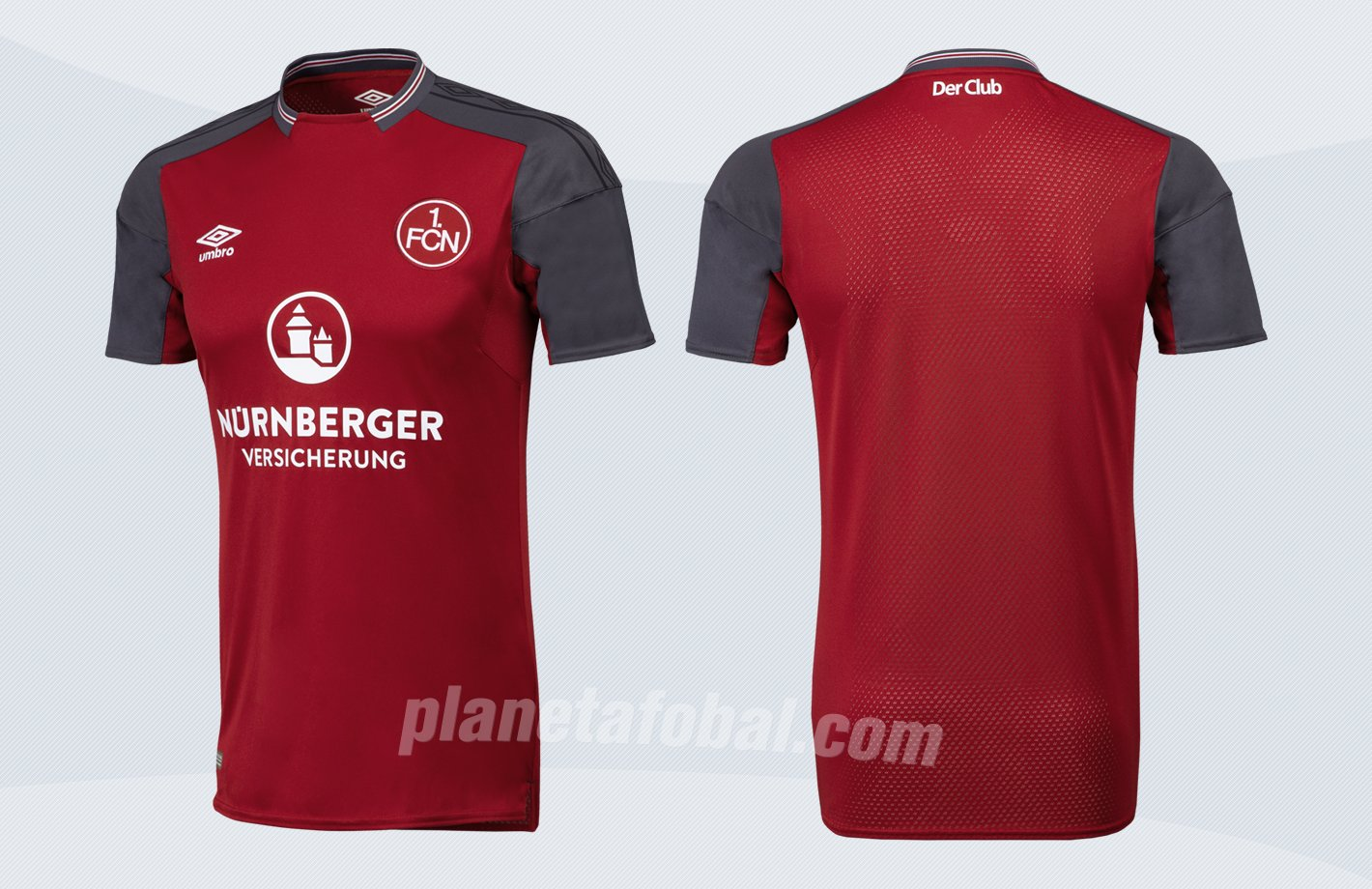 Camiseta titular Umbro 2017-18 del FC Nürnberg | Imágenes Web Oficial