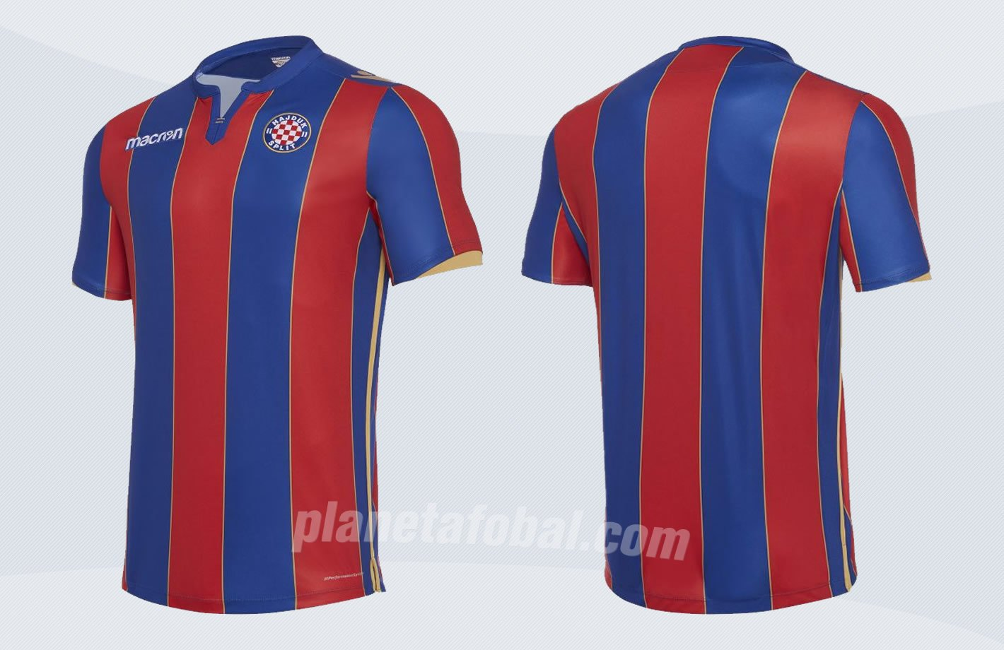 Camiseta suplente del Hajduk Split 2017-18 | Imágenes Web Oficial
