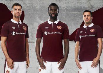 Camiseta titular 2017-18 del Heart Of Midlothian   Foto Web Oficial