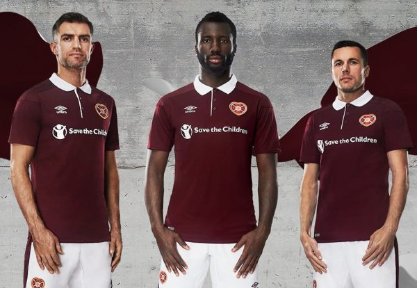 Camiseta titular 2017-18 del Heart Of Midlothian | Foto Web Oficial