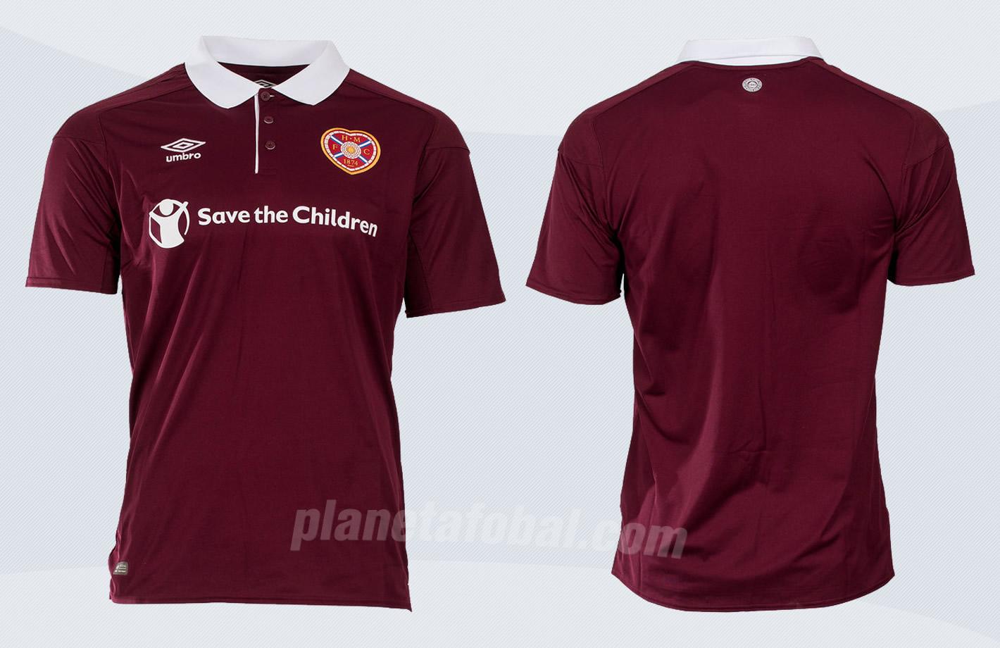 Camiseta titular 2017-18 del Heart Of  Midlothian | Imágenes Web Oficial