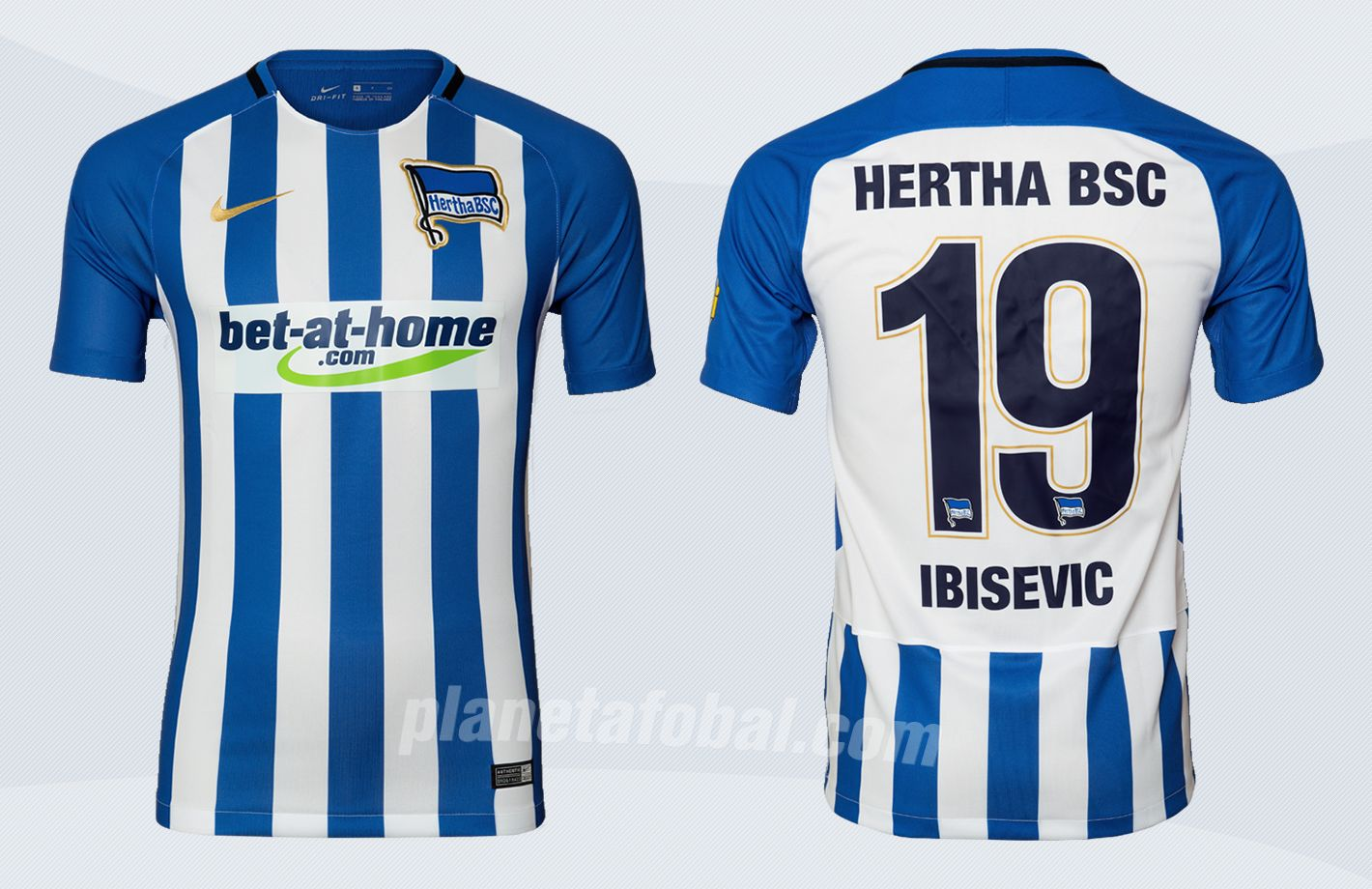 Camiseta titular Nike del Hertha BSC | Imágenes Web Oficial