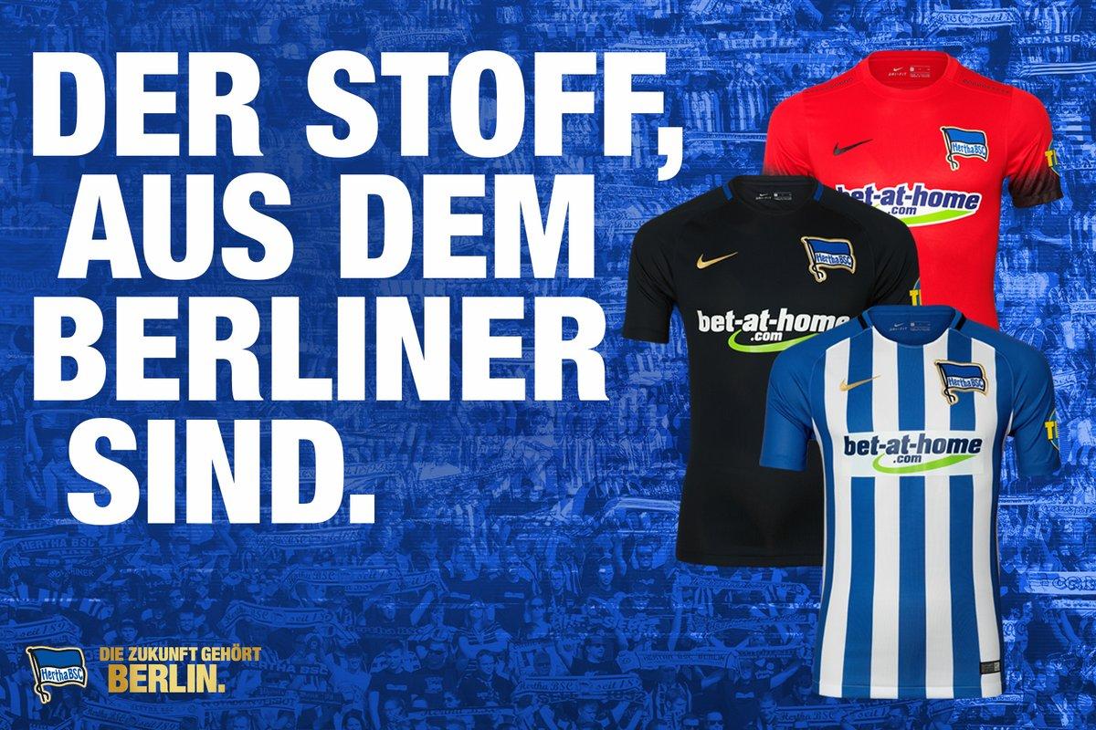 Los tres kits del Hertha Berlín para 2017-18 | Foto Web Oficial