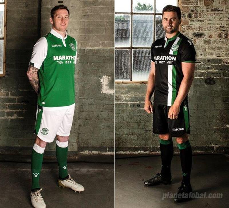 Camiseta titular y suplente del Hibernian FC | Imágenes Web Oficial