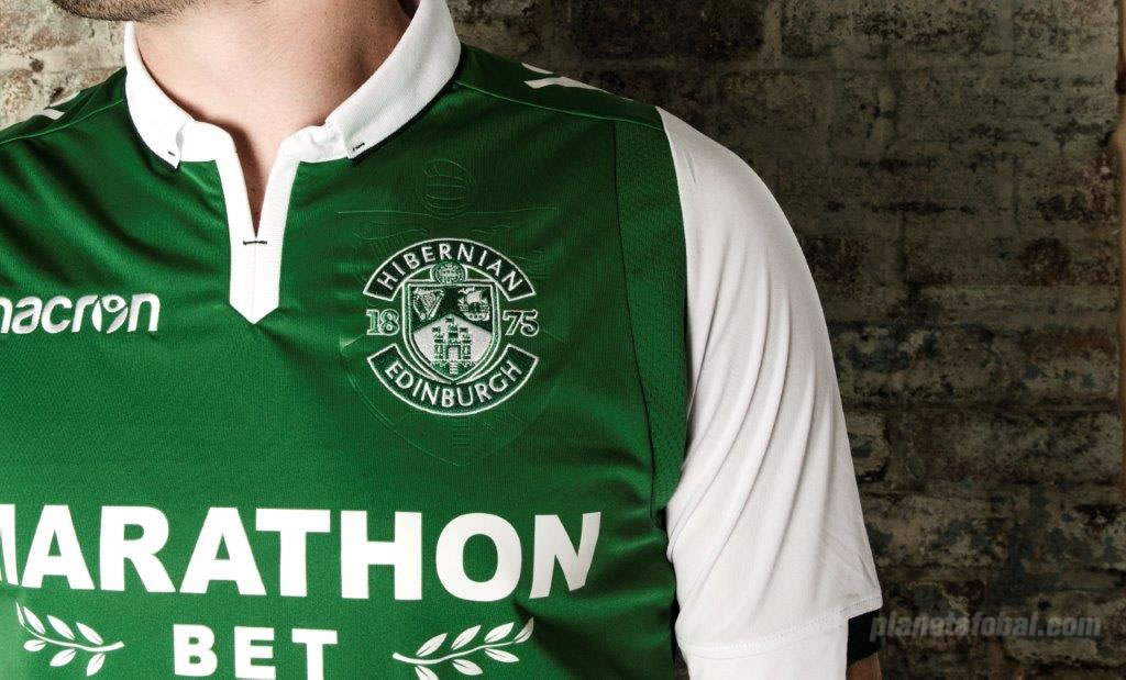Camiseta titular del Hibernian FC | Foto Web Oficial