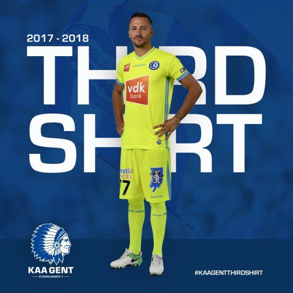 Tercera camiseta del KAA Gent | Foto Web Oficial