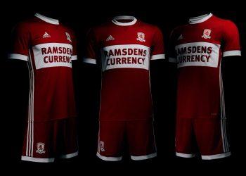 Nueva camiseta titular 2017-18 del Middlesbrough FC | Foto Web Oficial