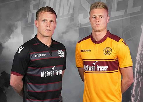 Camisetas Macron del Motherwell FC | Foto Web Oficial