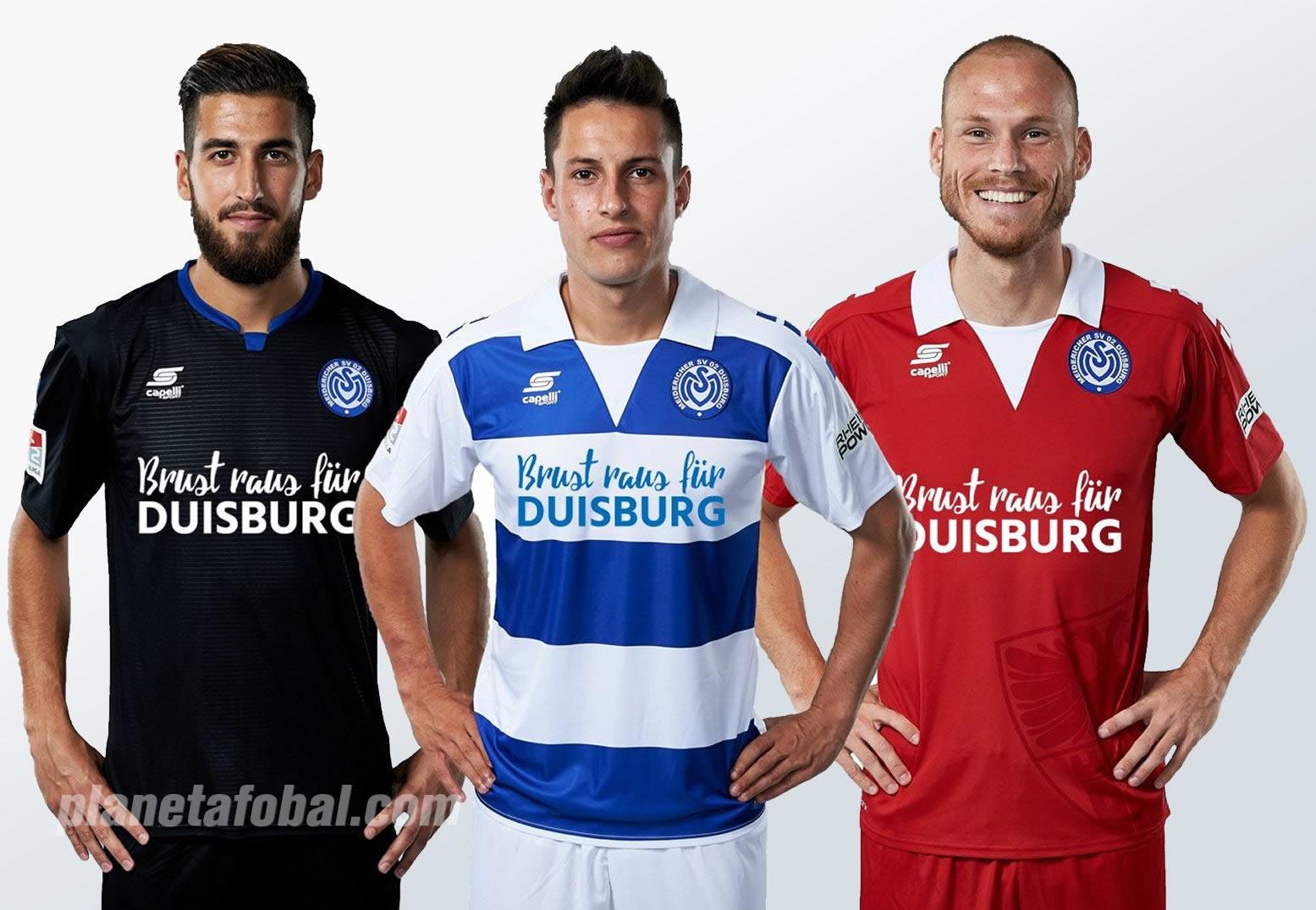 Nuevas camisetas Capelli Sport del MSV Duisburg | Foto Web Oficial