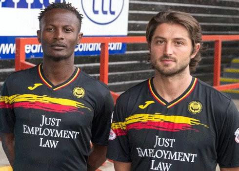 Camiseta suplente 2017-18 Joma del Partick Thistle FC | Foto Web Oficial
