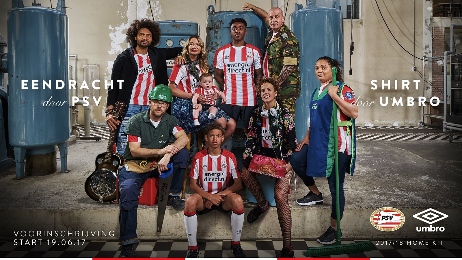 Nueva camiseta titular Umbro 2017-18 del PSV | Foto Web Oficial