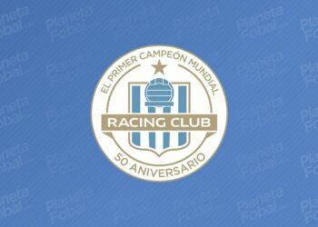 Escudo especial por el 50 aniversario de la Copa Intercontinental que ganó Racing | Imagen Twitter Oficial