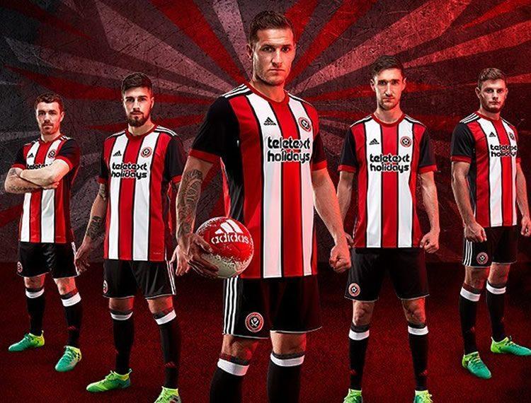 42d8345bd2 Camiseta titular 2017-18 Adidas del Sheffield United