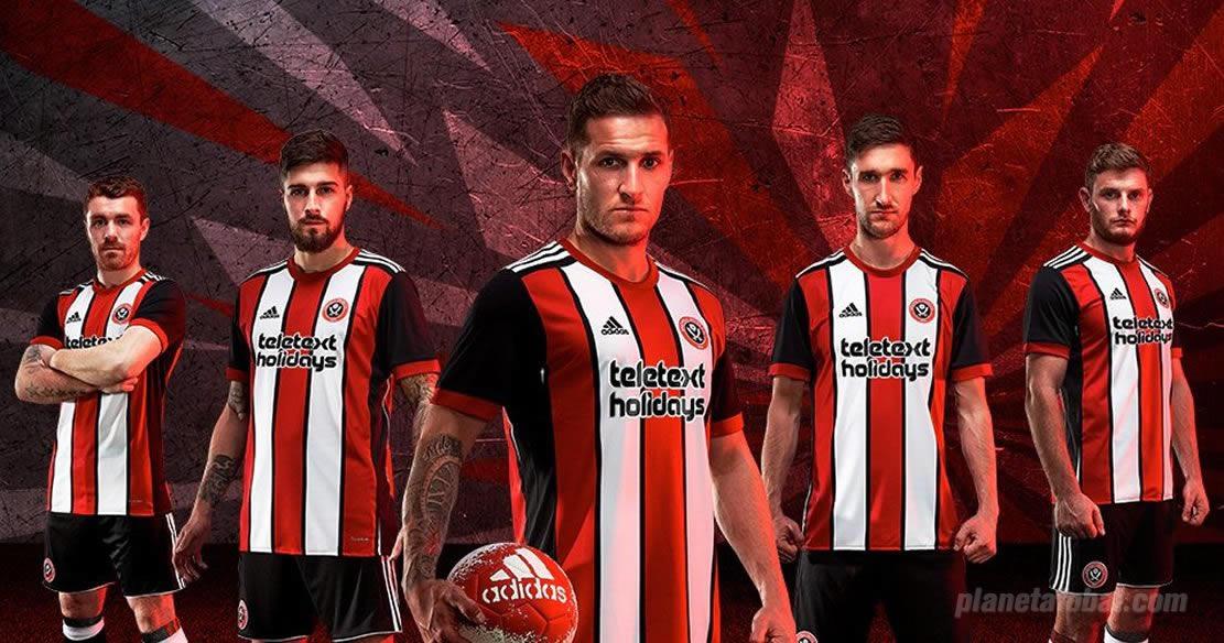 Camiseta titular 2017-18 Adidas del Sheffield United | Foto Web Oficial