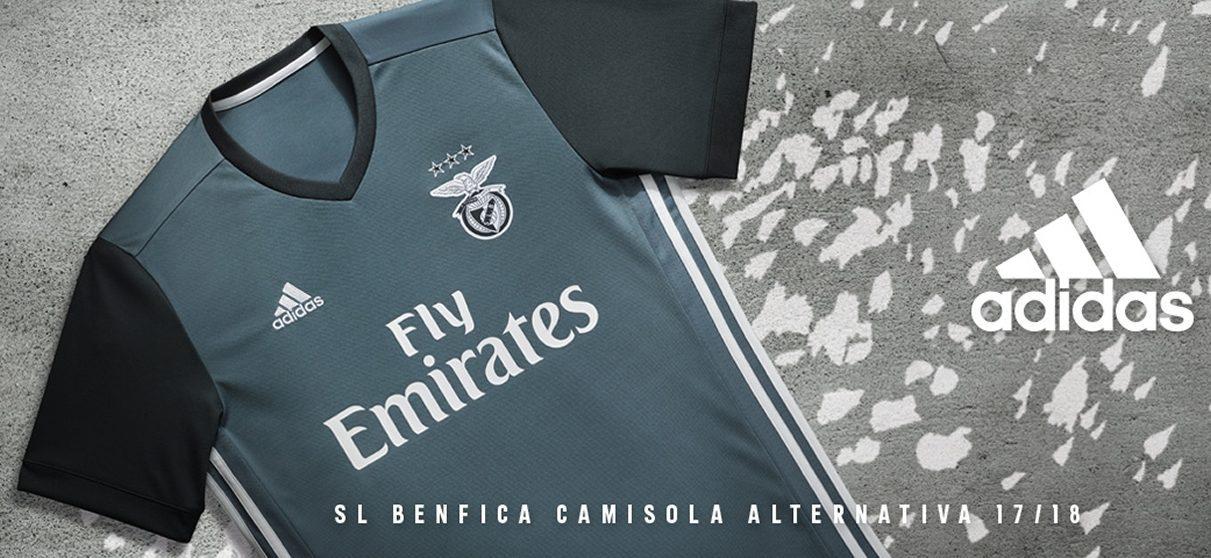 Camiseta suplente 2017-18 del SL Benfica | Foto Web Oficial