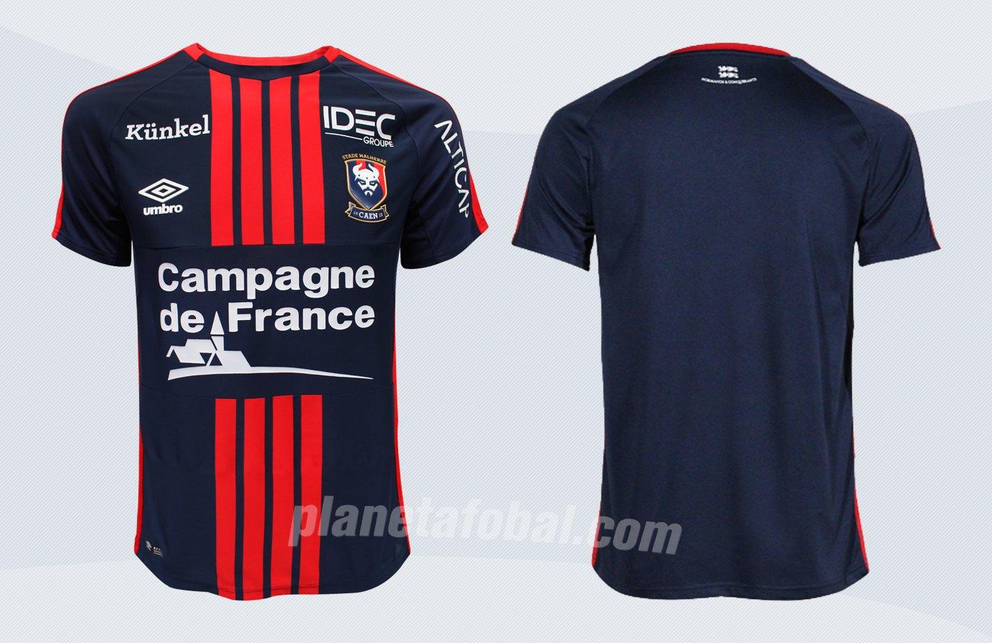 Camiseta titular Umbro del SM Caen | Imágenes Web Oficial