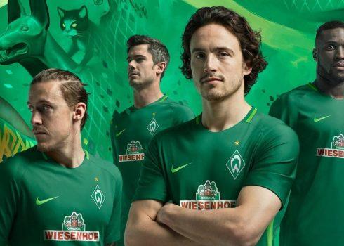 Camiseta titular Nike 2017-18 del Werder Bremen | Foto Web Oficial