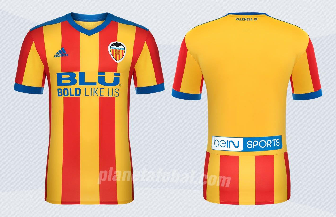 Nueva camiseta suplente 2017-18 del Valencia | Imágenes Web Oficial