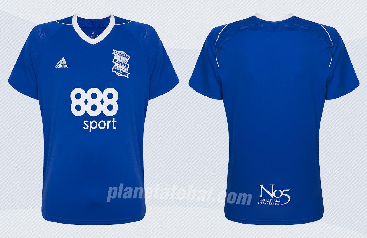 Camiseta titular Adidas 2017-18 del Birmingham City | Imágenes Web Oficial