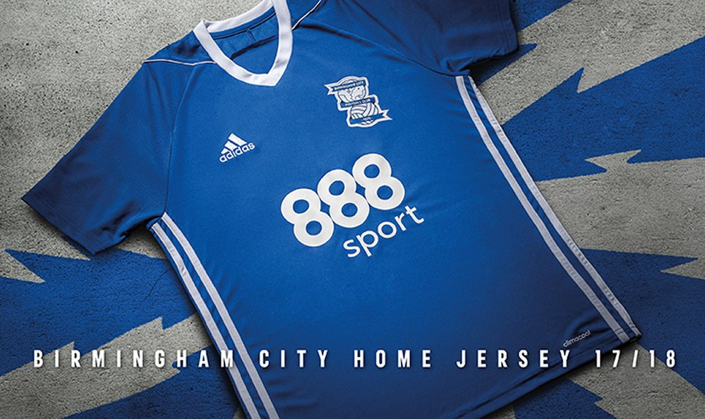Camiseta titular Adidas 2017-18 del Birmingham City | Foto Web Oficial