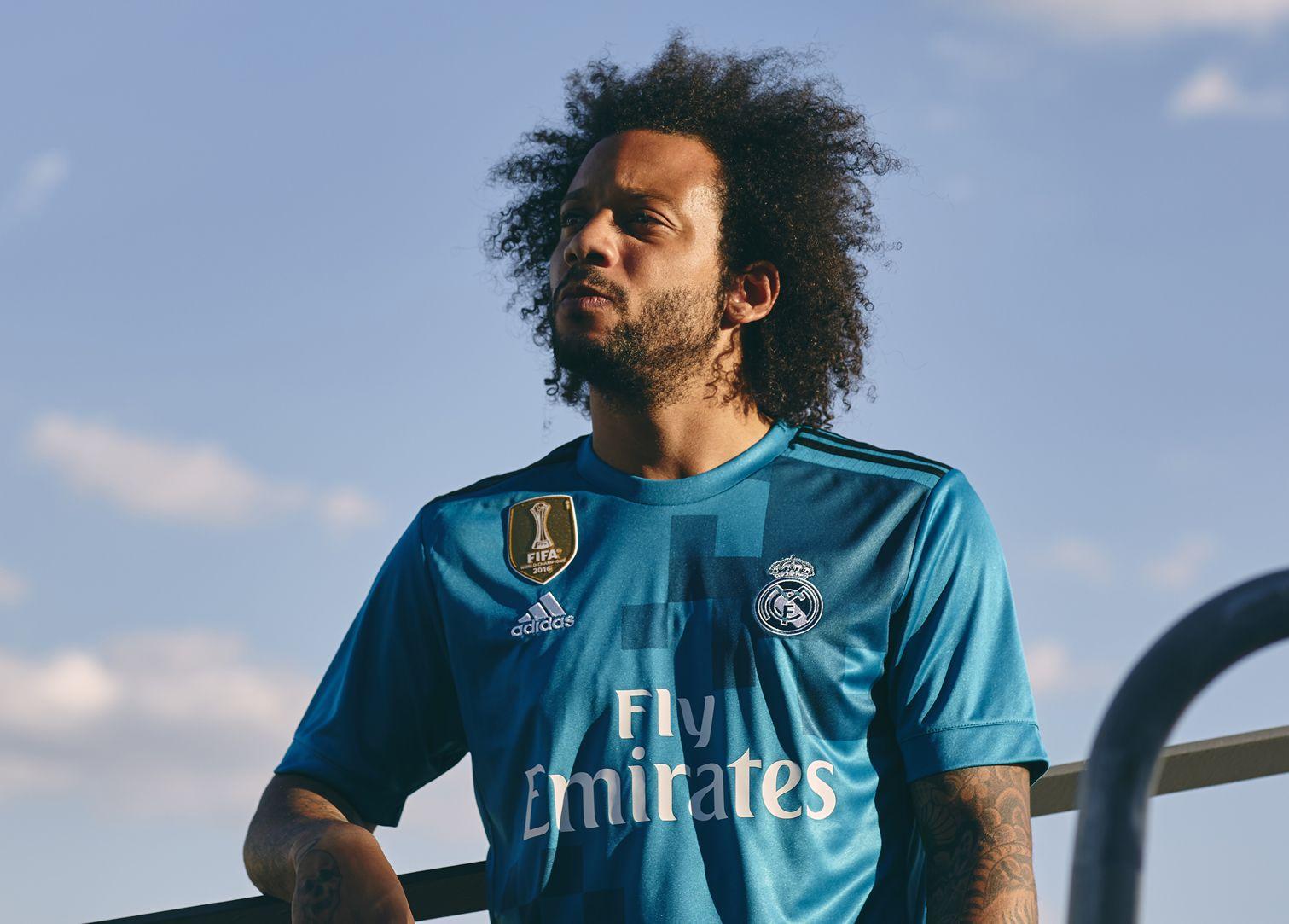 Marcelo con la tercera equipación del Real Madrid para 2017/2018 | Foto Adidas