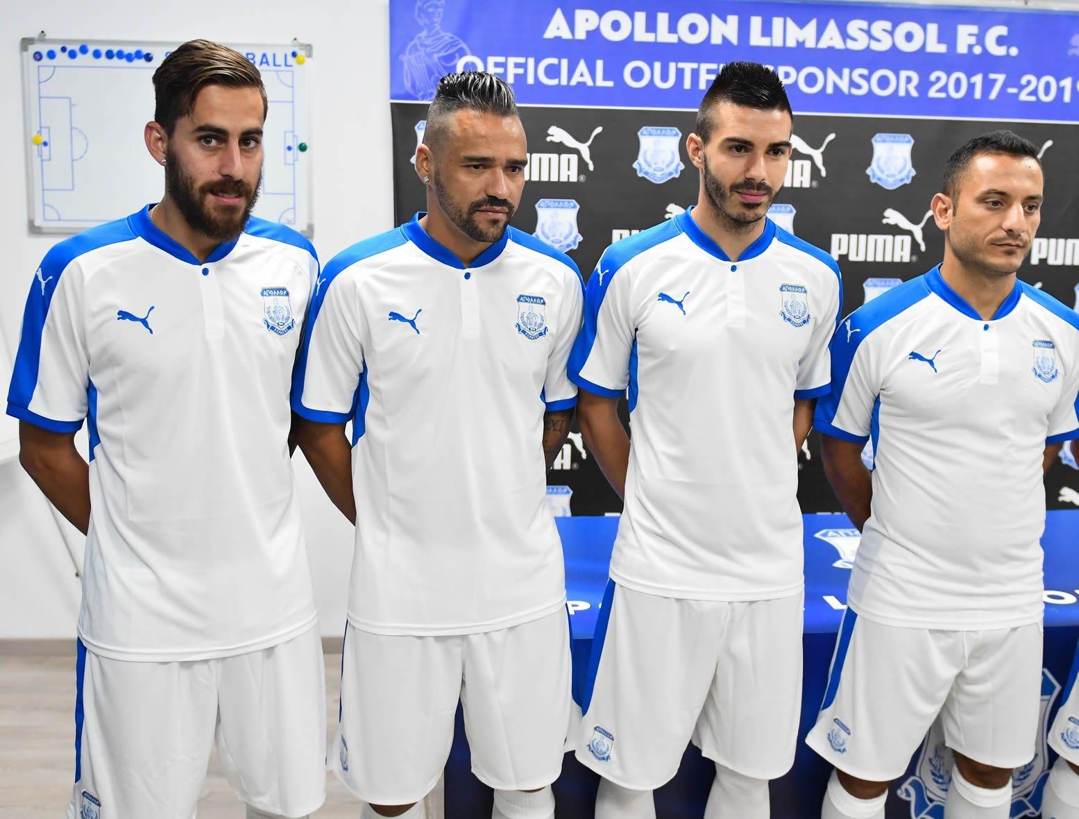 Camiseta titular del Apollon Limassol | Foto Web Oficial