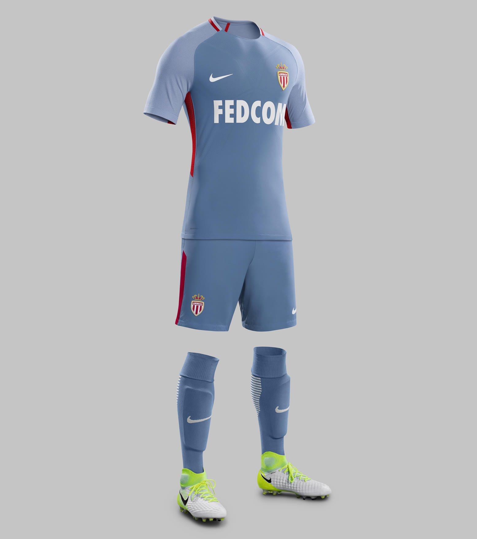 Camiseta suplente 2017-18 del AS Monaco | Foto Nike