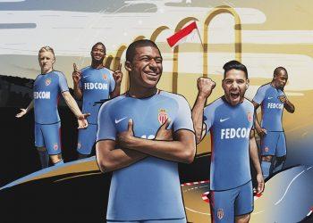 Camiseta suplente 2017-18 del AS Monaco   Foto Nike