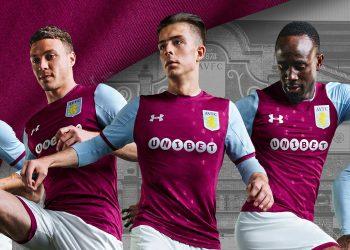 Camiseta titular 2017-18 del Aston Villa   Foto Web Oficial