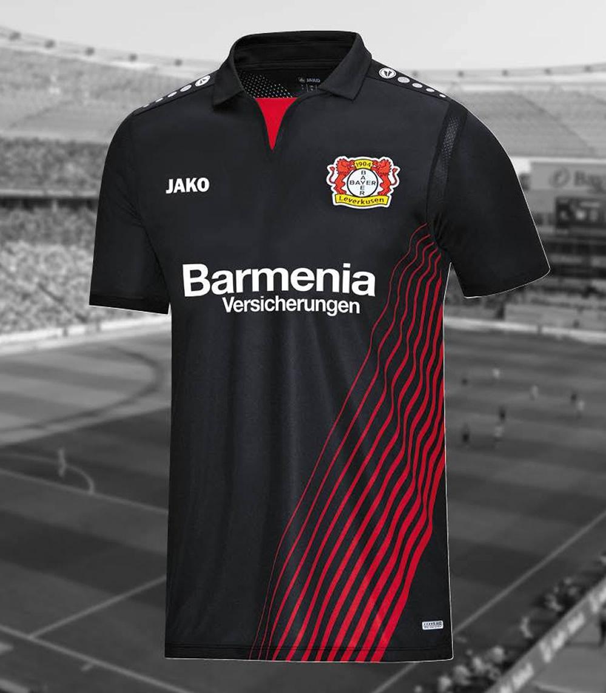 Camiseta titular del Bayer 04 Leverkusen | Foto Jako