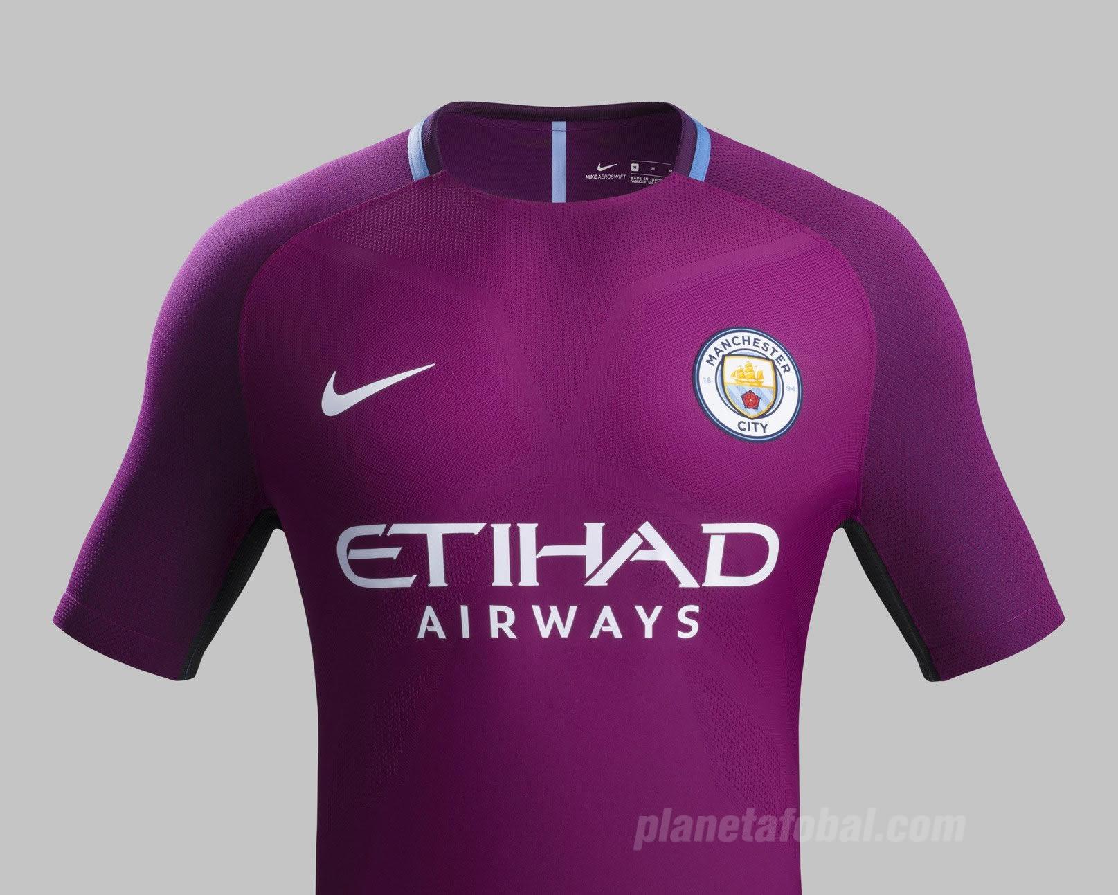 Camiseta suplente Nike del Manchester City 2017 2018  cb4e572ab495a