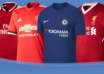 Las camisetas de la Premier League de Inglaterra 2017-18
