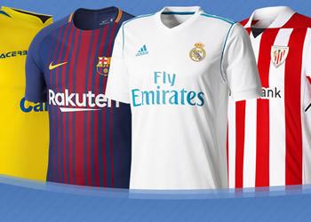 Las camisetas de LaLiga Santander de España 2017/2018